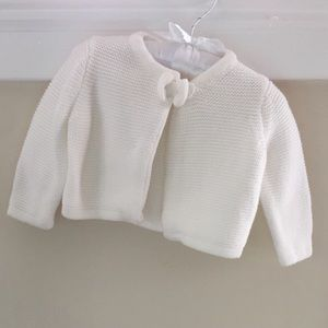 🆕 Janie & Jack Knit Bow Cardigan 3-6 Months
